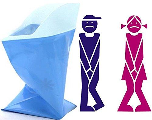 Unisex Männer Frauen Kinder Kurze Erleichterung Einweg Urinal Taschen Super Absorbent Packs für Reise Auto Stau Camping 4 Stücke