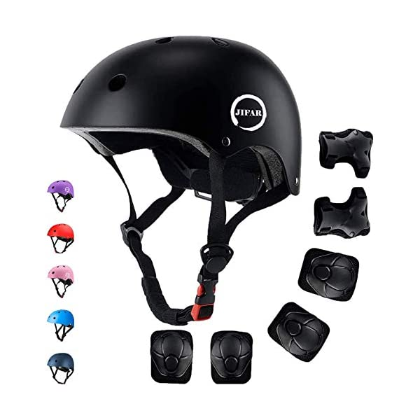 JIFAR Adjustable Helmet for Youth Kids Toddler Boys Girls,Protective Gear with Elbow...