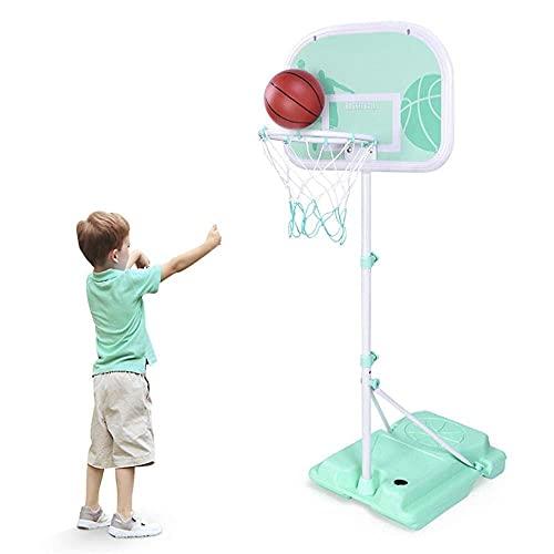 GLP Juego de baloncesto para niños, altura ajustable, para interiores y exteriores, juguete deportivo para niños y niñas de 3 a 8 años (color: A)
