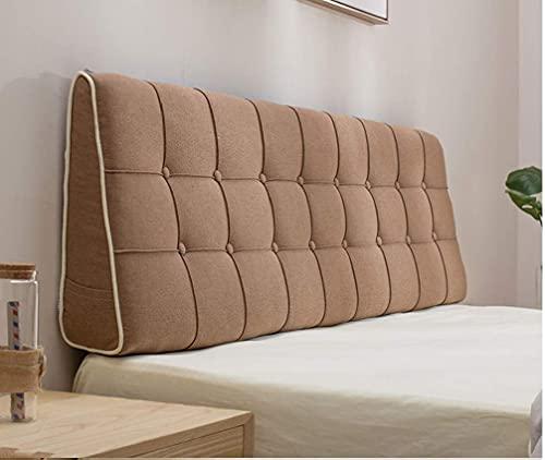 SAZDFY Cojín de Respaldo, Cojín Triangular de Cama Grande, Cuña tapizada de Almohada de cabecera Suave, Almohada de Lectura para sofá-o 180x15x50cm