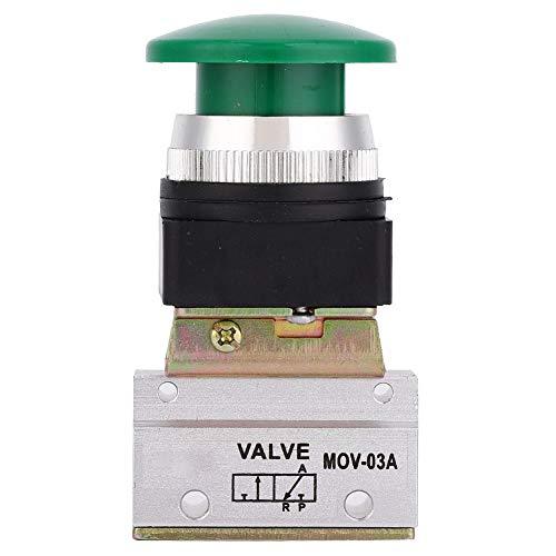 Válvula Mecánica Neumática de 2 Posiciones y 3 Vías MOV-03A G1 / 8'PT Interruptor de Botón de Hongo Válvula Mecánica de Aire