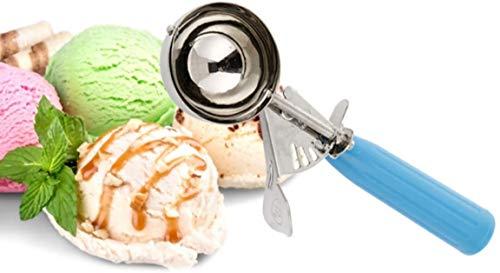 Xrten Pallina di Gelato Cucchiaio Alimentare di Gelato Trigger Cookie Scoop in Acciaio Inossidabile con Manico in Plastica