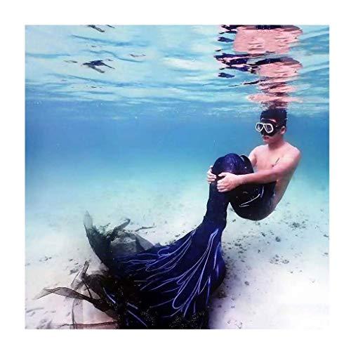Traje De Bano Sirena para Niñas con Bikini Conjunto con Cola De Sirena para Piscina/Playa/Baño/Cosplay/Fiesta Temática/Nadar/Vacaciones/Fotos(Color:Multicolor 4)