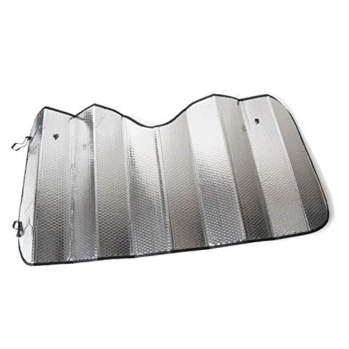 Acan - Parasol Universal Plateado Plegable de 200 x 80 cm para Coche, de Burbuja y Doble Cara. para Proteger contra los Rayos UV del Sol en Parabrisas Delantero de vehículos