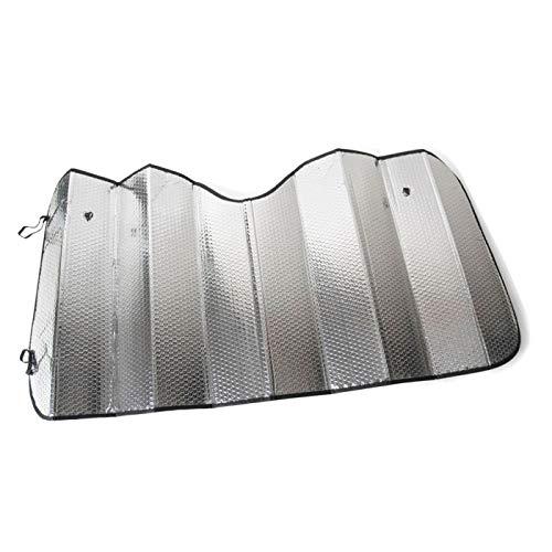 Acan - Parasol Universal Plateado Plegable de 200 x 80 cm para Coche, de Burbuja y Doble Cara. para Proteger contra los Rayos...