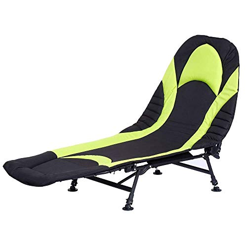 ShiSyan Cama Plegable Negro reclinable sillón cama-190 * 72 * 40cm Bedchair Carpa Camping Pesca con 6 piernas del visitante Cama (Color: Negro, tamaño: 190 * 72 * 40 cm) Sillas Plegables