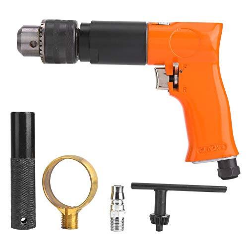 Pneumatic Drill, 1/2in Pneumatic Drill Reversible Self-Locking Trigger Design Handle Air Tool 1600rpm