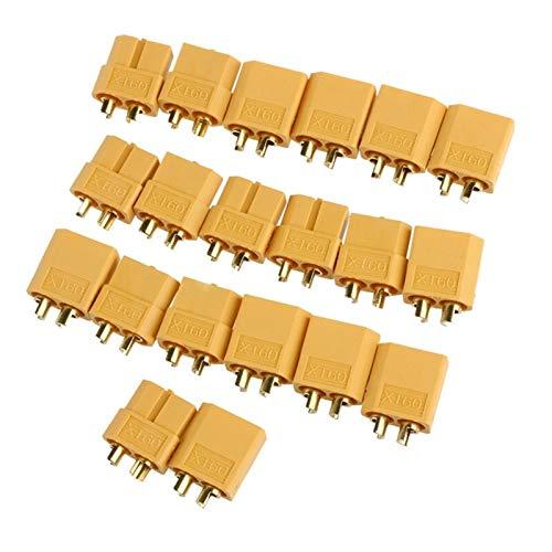 ADUCI 10 Pares de XT60 + Mujer Hombre Bala 20pcs Conectores Enchufes for RC Lipo batería