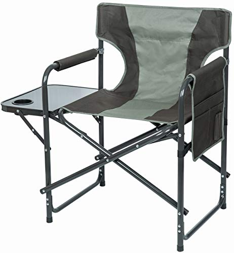 VTK Outdoor, campingstoel, comfortabele ontspanning, met zijtafel en zijzak, opvouwbaar.