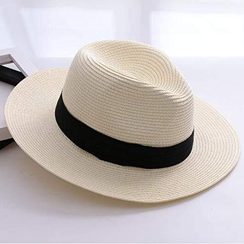 KIODS hoed stro dames Panama stro Beige wit mannen strand casual breedgerande zomer Hawaiian mode zon hoed