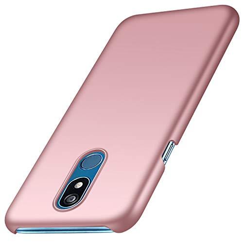 Funda LG K40, Anccer Ultra Slim Anti-Rasguño y Resistente Huellas Dactilares Totalmente Protectora Caso de Duro Cover Case para LG K40 (Oro Rosa Liso)