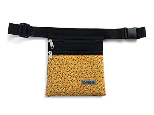 Riñonera tela Confetti, bolso bandolera artesanal hecho a mano