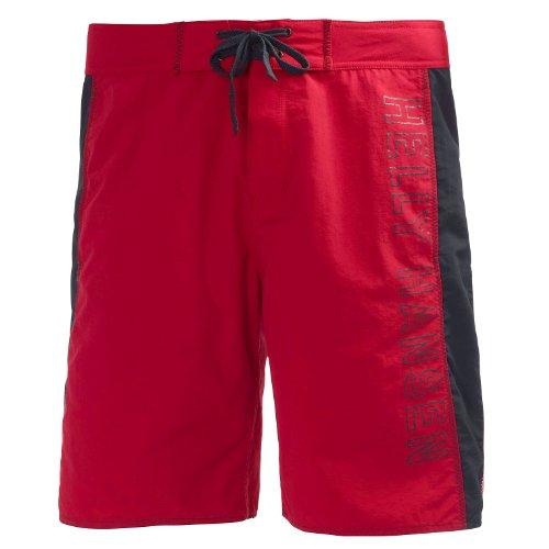 Helly Hansen HH Logo Short - Pantalón Corto para Hombre, Color Rojo, Talla 33