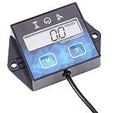 AIMILAR medidor Digital de Horas para Motor – Tacómetro para Motor pequeño Barco generador cortacésped Motocicleta Motocross ATV Snowmobile UTV, Replaceable Battery