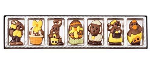 Weibler Caja Regalo 7 Figuras Pascua Leche Chocolate Cacao 36% Mínimo -  1 x 70 Gramos