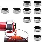 (10 pcs) Weinring Wein-Ring aus Edelstahl Tropfring Weinzubehör Weinflaschen Zubehör Tropf-Stop Weinring für Home Bar Restaurant,auch für Sekt, Champagner oder andere Flaschen geeignet(Silber)