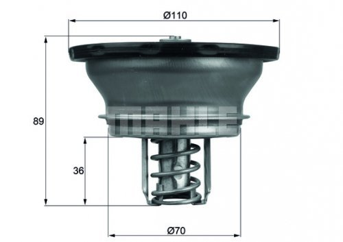 Behr-Thermot-Tronik THD382 Thermostat, Kühlmittel