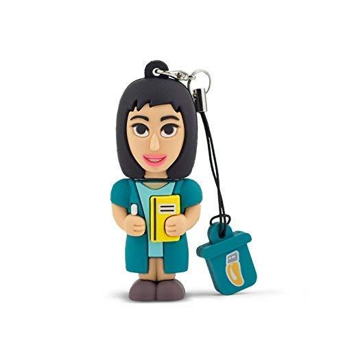 Memoria USB profesional, con forma de mujer, Flash Drive 2.0, llavero, de 8GB