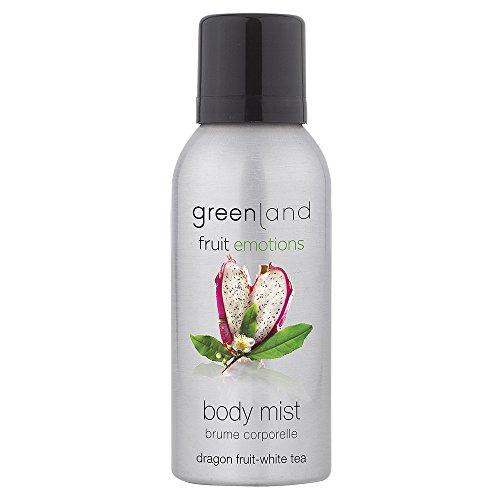 Greenland Spray corporel fruité de dragon, thé blanc sans huile minérale et végétale Body Splash Vegan & sans colorant