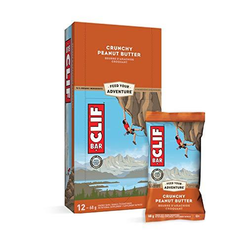 CLIF BAR - Energy Bars - Crunchy Peanut Butter - (68 Gram Protein Bars, 12 Count)