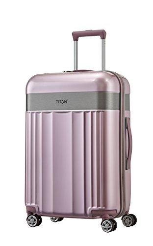 TITAN 4-Rad Koffer Größe M mit TSA Schloss, Gepäck Serie SPOTLIGHT: Edler Trolley in trendigen Farben, 831405-12, 67 cm, 69 Liter, wild rose (rosa)