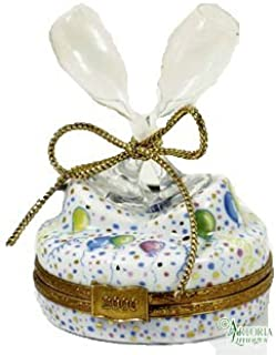 Artoria Limoges: Collectible, Hinged Porcelain Trinket Box - Champagne Glasses, Authentic French Giftware, Handcrafted in Limoges, France