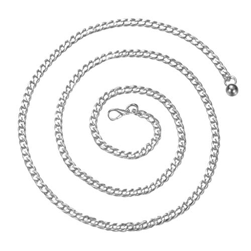 Baoblaze Kettengürtel Damen Körperkette Bauchgürtel Bauchkette Legierung Taille Kette für Frauen, 110cm