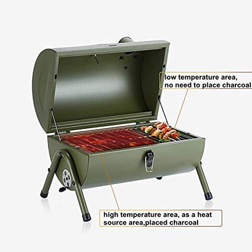 41C5PggAnML. SL500  - Kunyun Tragbarer Outdoor-Grill, Terrasse, Camping, Picknick, Herd, Farbe: Rot, Größe: 42 x 29 x 37 cm
