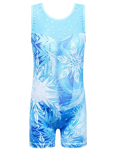 TFJH E Gymnastics Leotard for Girls Mesh Sequin Practice Outfits...