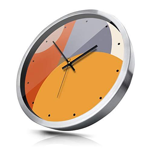 Horloges Murales HXF créative Chambre Salon muet Moderne Horloge silencieuse Horloge à Quartz Précis (Color : Silver)