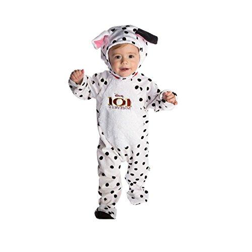 Disney Baby DCPAT-RPMO-18 - kostuum - 101 Dalmatier - patch - fleece rompertje met capuchon, wit