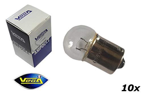 VEGA 10 Ampoules R10W G18 10W BA15S Halogène Maxi 12V