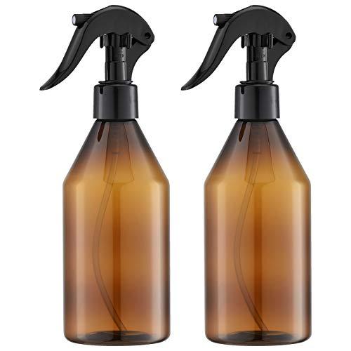 Livfa Flacon Spray Vide 300ml, Vaporisateur Brumisateur, Bouteilles Pulvérisateur Plastique pour Cheveux (2 Pièces, Transparent)
