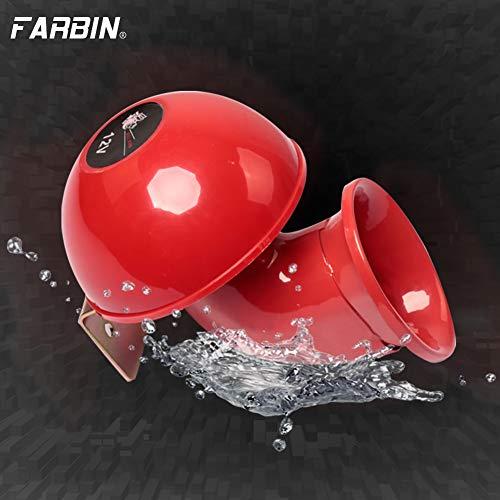 FARBIN Super Loud 12V Horns,Loud Raging Bull Sound Electric Horn ,Air Horn Raging Sound for Car Motorcycle Truck Boat (Bull Sound Horn, 12V)