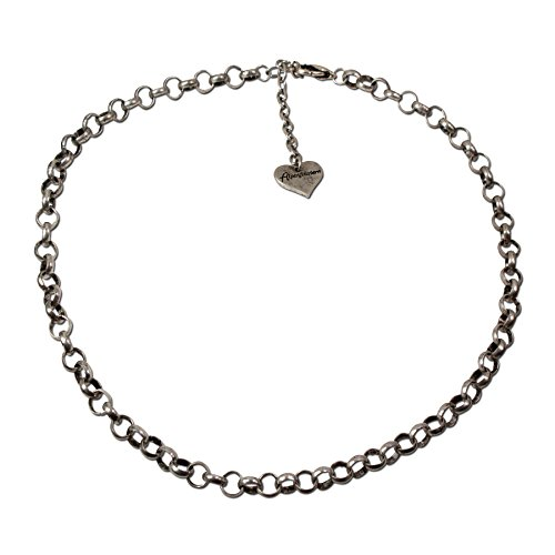 Alpenflüstern Erbsketten-Halskette Puro - Trachtenkette für Anhänger, Damen-Trachtenschmuck Dirndlkette antik-Silber-Farben DHK121