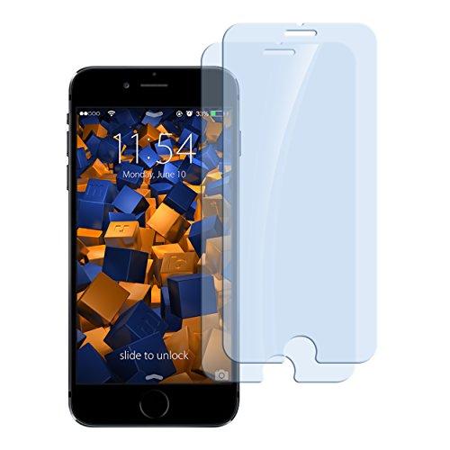 mumbi ECO Hart Glas Folie kompatibel mit iPhone 6 Panzerfolie, iPhone 6s Panzerfolie, Schutzfolie Schutzglas (2X)