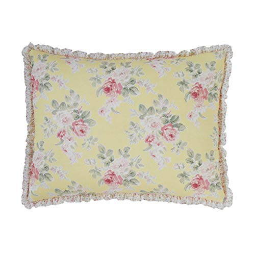 Laura Ashley Melany, algodón 100% algodón, Amarillo, Sham