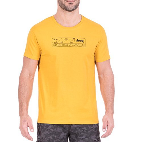 Jeep Homme The Heritage of Adventure j8s T-Shirt L Jeep Core Yellow/Black