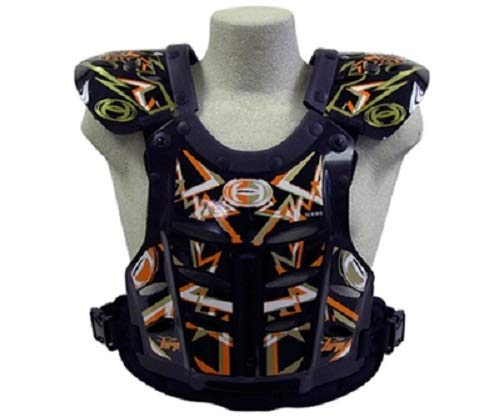 HRP Flak Jak kids chest Protector Orange Gold Youth Peewee 50-95 lbs