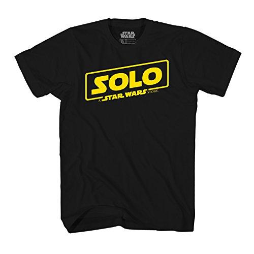 Star Wars Han Solo Movie Poster Logo Mens T-Shirt (Medium, Black)