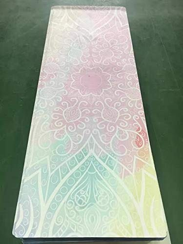 YOOMAT Couleur Flowers Pattern Suede Skin Natural Rubber eco-Friendly Slip-Resistant Hot Yoga Best Yoga Mat Fitness Rubber Mat