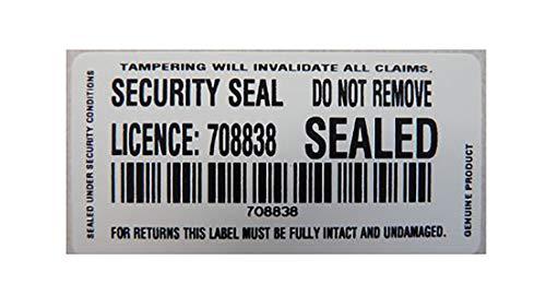 Etiquetas seguridad blancas ultra destructibles manipulación