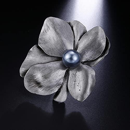 hcma Vintage Originale Grande Perla Fiore Spille per Le Donne Classico retrò Originale Spilla Spille Gioielli vegetali