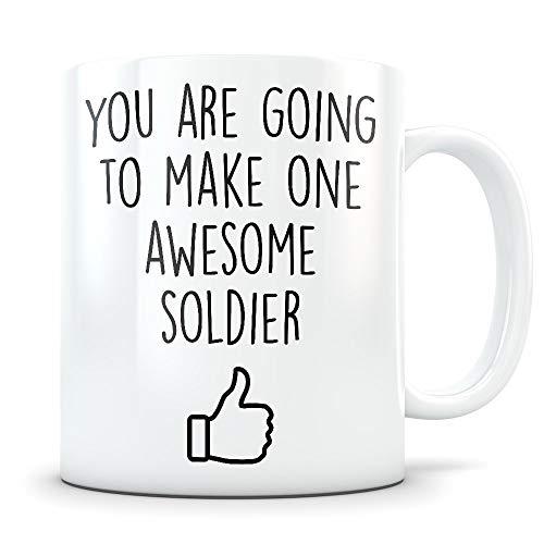 Army Graduation Gifts - Future Military Science Graduates - Neue US Army Soldier Kaffeetasse für Männer und Frauen Bootcamp Studenten Klasse von 2018 - Funny Boot Camp Grad Degree Herzlichen Glückwuns