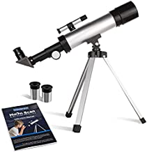 Surefect Nasa Lunar Telescope for Kids Capable of 90x Magnification, Includes 2 Eyepieces - Portable & Easy To Use Lightweight Portable Telescope