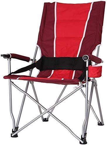 AYCPG Bequeme Liegestuhl, Klapp Camp Stuhl Tragbarer Stuhl des Direktors Folding Breathable Ineinander greifen Aluminium Camping Fischen Gartenstuhl Klappstuhl hfhdqp