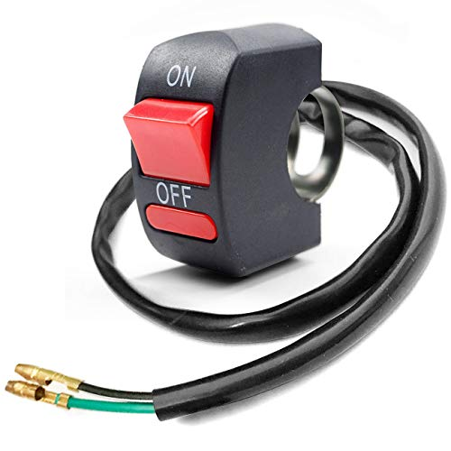 Motorcycle Handlebar Toggle Switch On Off Push Button Switch Bicycle Motorcycle Tuning Part for U5 U7 U2 LED Headlight Scooter Electrombile