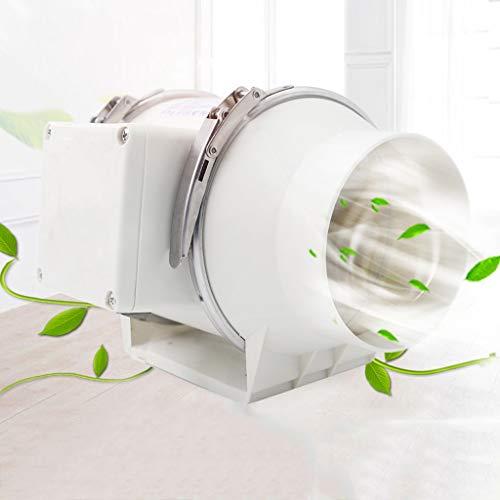 Ventilador de ventilación doméstico Ventilador Extractor De Tubo, 4 Pulgadas Silenciador De Cocina Extractor De Humos De Baño Baño Extractor Potente LITING