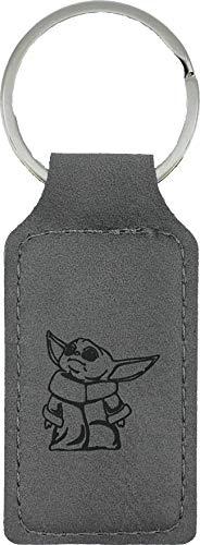 Baby Yoda Keychain (Grey Leather)