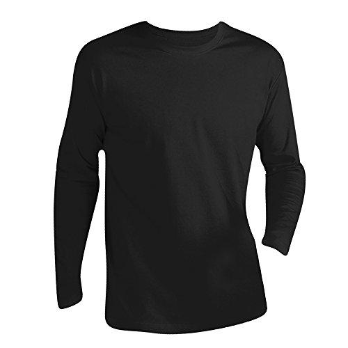 SOLS - Camiseta de manga larga para hombre - Modelo Monarch (3XL/Negro intenso)